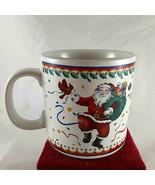 Vitromaster Santa Claus & Cardinal Christmas coffee Mug Cup Stoneware - $9.89
