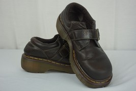 DR. MARTENS Brown Chunky Heel with Buckle Shoes 3A78 Womens US Sz 7 - $14.95