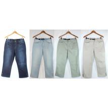 NWT Nine West Stylist Jeans Bling Karen Floral Capri Women Pants 4 Color... - $29.99