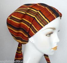 Stripe Chemo Hat Scarf Cancer Turban Chemo Bad Hair Day Scarf Alopecia H... - $16.95