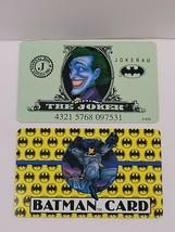 Two ( 2 ) Vintage Batman Joker Plastic Credit Cards 1989 DC Comics JOKER4U - $54.95