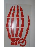 """New Die Cut GRENADE Skeleton Hand Sticker WINDOW DECAL Orange 9' x 5.5"""" ... - $5.99"""