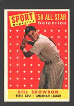 1958 Topps #477 Bill Skowron All-Star Yankees Ex/Mt  - $8.80