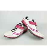 SAUCONY CRESCENT Women's White And Pini Sprint Track Field Running Shoes... - $20.78