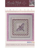 Pattern Play: Moth cross stitch chart AnnaLee Waite Designs  - $9.00