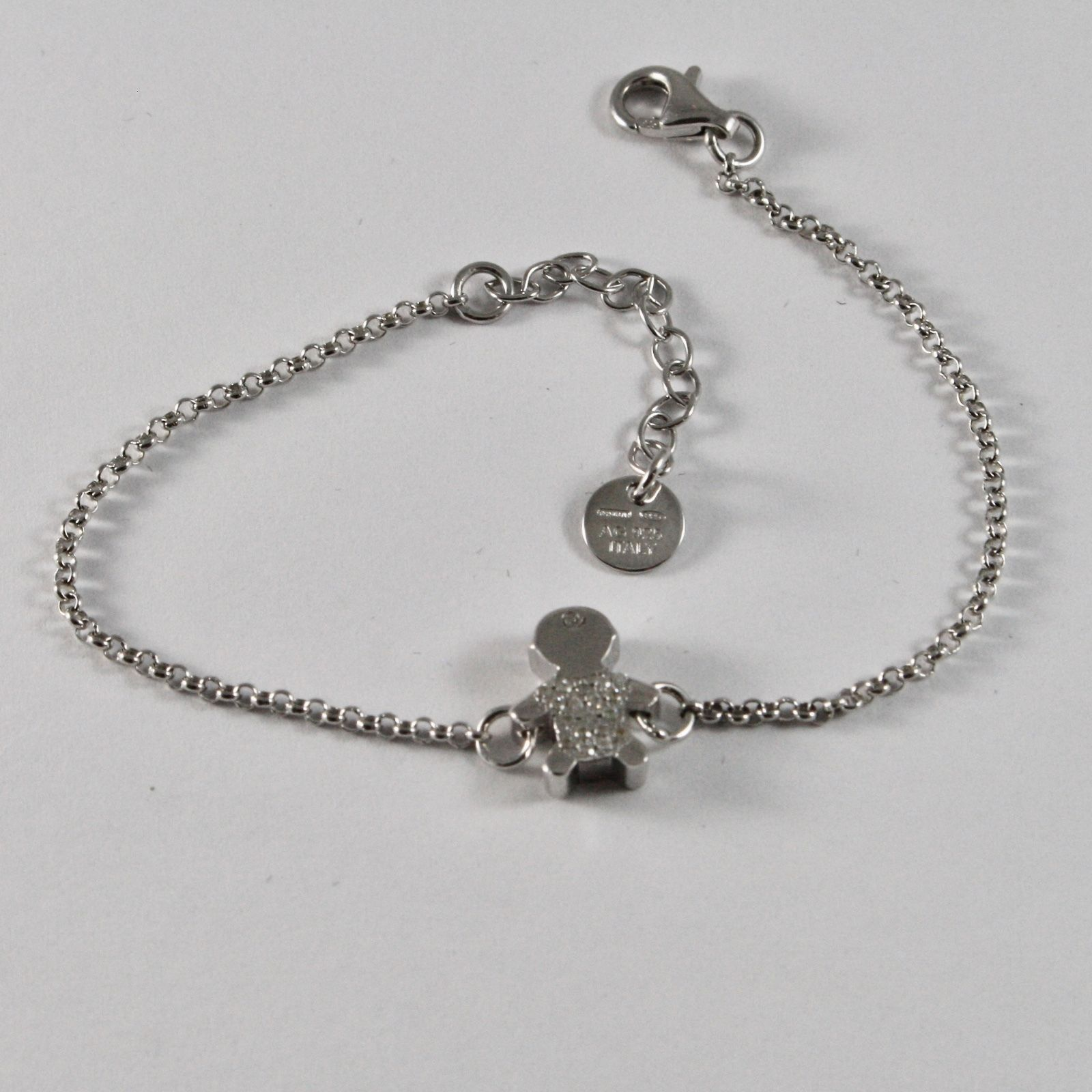 SILVER 925 BRACELET JACK&CO WITH CHILD STYLIZED AND ZIRCON CUBIC JCB0858