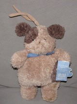 Child Of Mine Stuffed Plush Musical Puppy Dog Crib Pull Toy Baby Brown Tan W Tag - $39.59