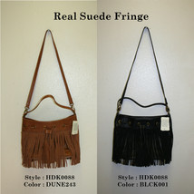 "Lucky Brand,Women's Cross Body handbag,""REAL SUEDE FRINGE"".Real Leather.NWT - $29.99"
