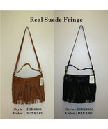 """Lucky Brand,Women's Cross Body handbag,""""REAL SUEDE FRINGE"""".Real Leather.NWT - $39.99"""