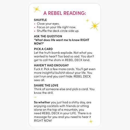 REBEL DECK - The Oracle with Attitude - Oracle Deck 60 Cards
