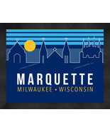 Marquette University 13 x 16 Uscape with Retro Skyline Framed Print  - $39.95