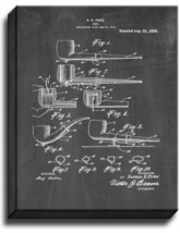 Pipe Patent Print Chalkboard on Canvas - $39.95+