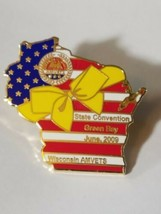 VINTAGE WISCONSIN AMVETS STATE CONVENTION GREEN BAY JUNE 2009 Lapel Pin