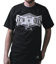 KR3W x Crooks & Castles Colab Union Clan Black or White T-Shirt NWT