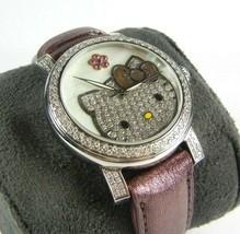 Kimora Lee Simmons Hello Kitty Diamond Watch Stainless Steel RARE! - $1,839.96
