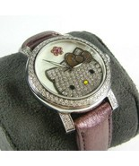 Kimora Lee Simmons Hello Kitty Diamond Watch Stainless Steel RARE! - $1,839.96