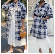 H&M Shacket Coat Long Jacket Wool Blend Bloggers New - $148.50