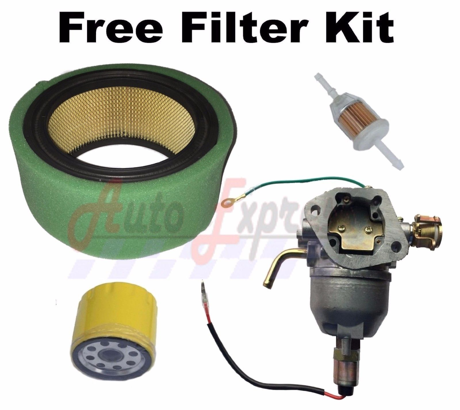 Fits Briggs and Stratton 610000 Series Carb Air Oil Fuel Filters Tune Up Kit