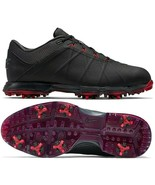 NIKE LUNAR FIRE GOLF SHOES BLACK/RED SIZE 9 WIDE BRAND NEW (861458-001)  - $69.20