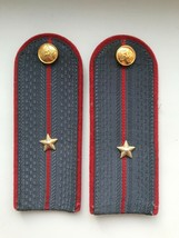 Vintage USSR Militia Shoulder Boards Uniform Sublieutenant Rank Epaulet ... - $12.28