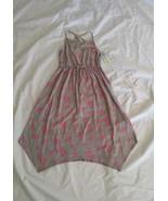 Cat & Jack™ Girl Pink Butterfly Print Heather Gray Knit Maxi Dress XL(14... - $16.69