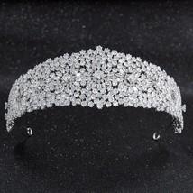 2019 New Crystal Cubic Zirconia Bridal Wedding Soft Headband Hairband Ti... - £77.07 GBP
