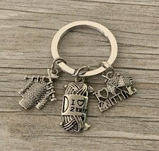 Knitting Jewelry, Custom I Love Knitting Key Chain, Knitter Gifts, Perfe... - $9.99