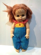 Vintage Horsman Drink & Wet Doll 2-82 Red Hair Freckles Rooted Hair 20 in. - $11.77