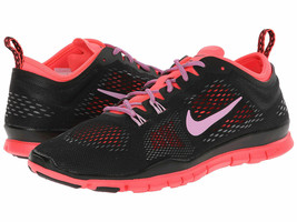 NIKE WOMEN'S FREE 5.0 TR FIT 4 SHOES SIZE 5.5 black magenta punch 629496... - $59.97