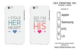 Stealing Heart Couple White Phone Cases - iPhone 4-6+, S3-6, NOTE 4, G3, M8 - $19.99