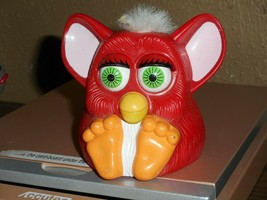 McDonalds Mini Furby 1998 Happy Meal Toy Collectible Red Body White Hair... - $4.99
