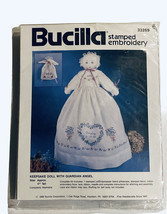"""Bucilla Stamped Embroidery Keepsake Doll With Guardian Angel 17"""" Vintage 1992 - $9.80"""