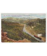 Railroad Train Pilot Knob Pikes Peak Colorado 1910s postcard - $5.94