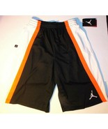 Air Jordan Boys Athletic Shorts Black, Orange Size 10-12years NWT - $24.24