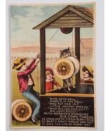 Victorian Trade Card Merrick Thread Nursery Rhyme DING DONG DELL Brookfi... - $7.95