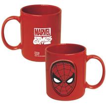 Marvel Comics Amazing Spider-Man Face 20 oz. Red Ceramic Coffee Mug NEW UNUSED - $8.79