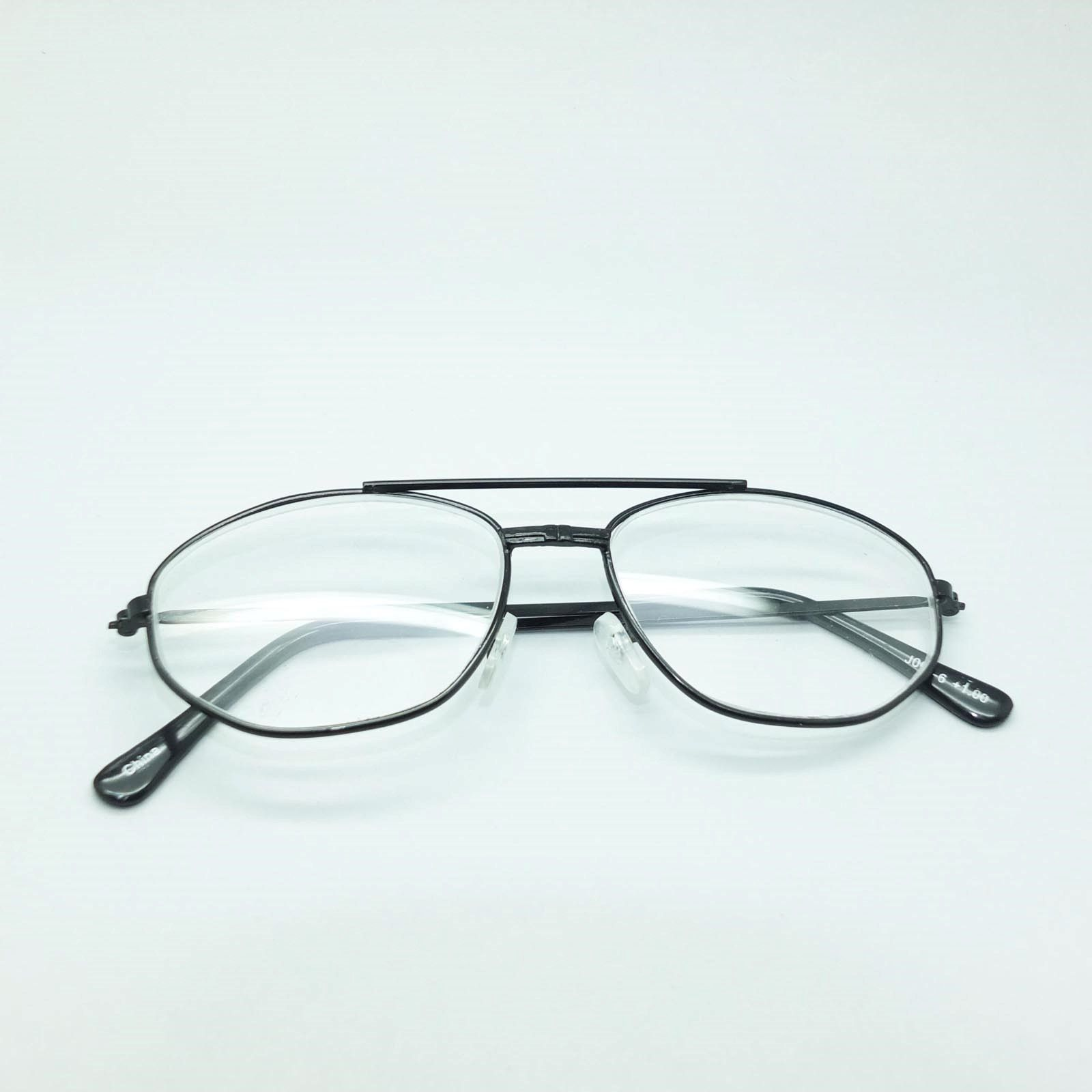 Reading Glasses Mini Aviator Matte Black Metal Frame +3.00 Lens Strength image 4