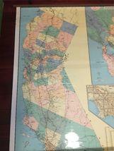 "Vintage 1989 Large Wall Thomas Bros California State Freeway Artery Map 68""x54"" image 7"