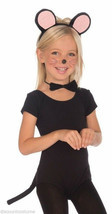 CHILD SIZE PLUSH MOUSE SET EARS BOW TIE TAIL KIDS HALLOWEEN COSTUME ACCE... - $5.79