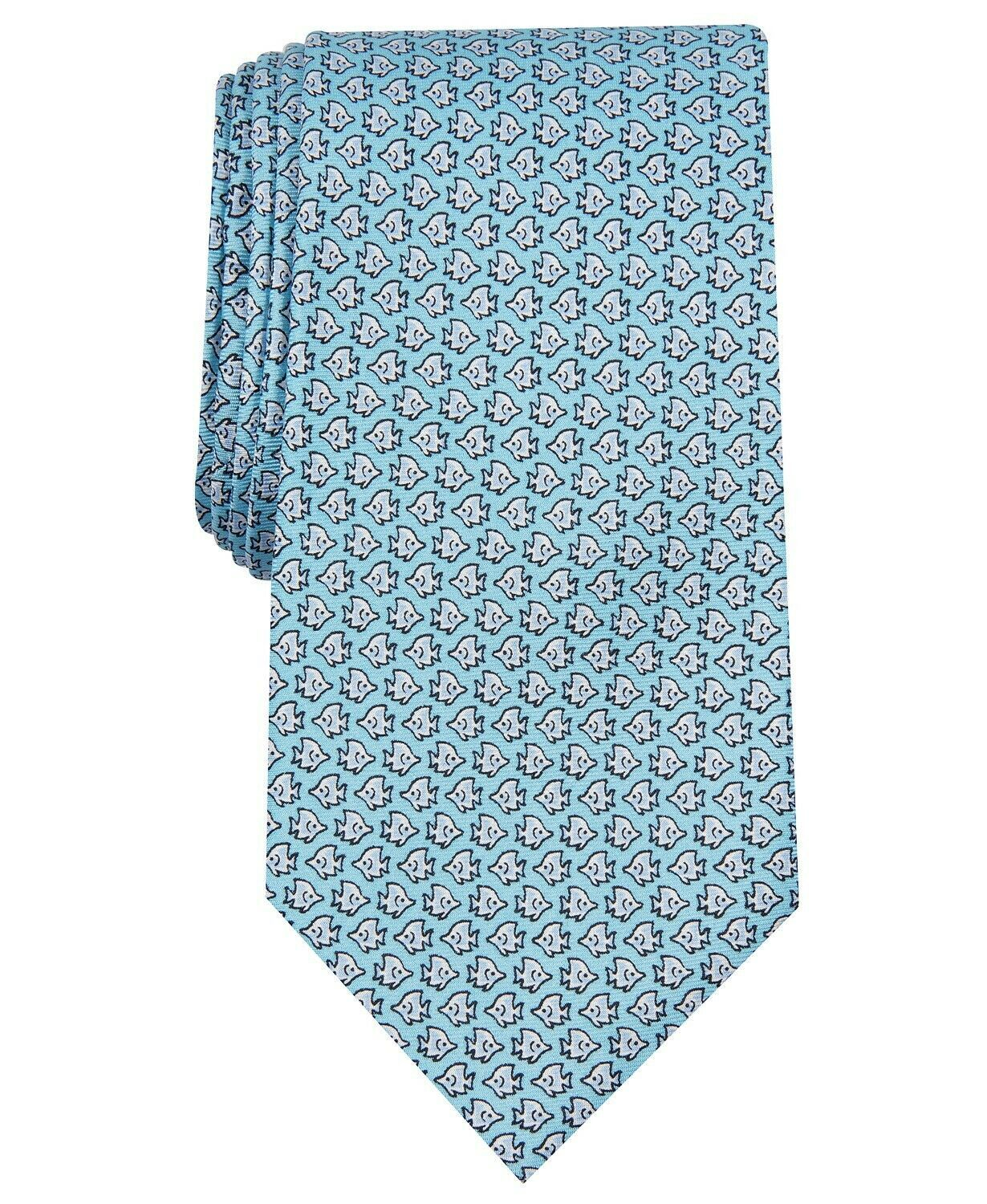 Primary image for Club Room Men's Angel Fish Print Silk Tie 3.125 Wide NWT