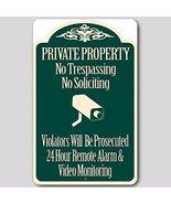 Private Property No Trespassing No Soliciting Video Surveillance Sign (G... - $15.67