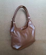 Brown Leather Shoulder Bag, Small Casualt Purse, Urban Handbag, Bony - $92.74