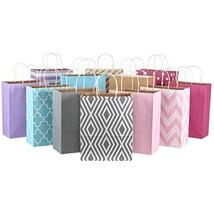 "Hallmark 12"" Large Paper Gift Bag Assortment, Pack of 12 in Pastel Pink, Lavende"