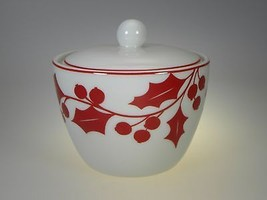 Lenox Holly Silhouette Covered Sugar Bowl NEW I... - $14.92