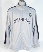 Majestic Home Base Collection Colorado Rockies Gray Track Jacket Mens NEW - $48.74