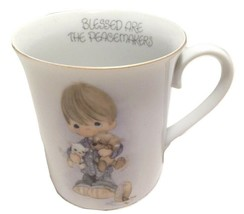 Cup Mug 1978 Precious Moments 8oz Blessed are the Peacemakers Coffee Tea - $16.83