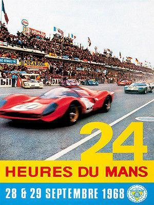 Primary image for 1968 24 Hours of Le Mans Race - Promotional Advertising Poster