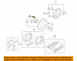 ( 11 Pieces ) FORD OEM 00 - 11 Focus Brake-Rear-Hub & Drum Bolt YS4Z1107AA - $22.49