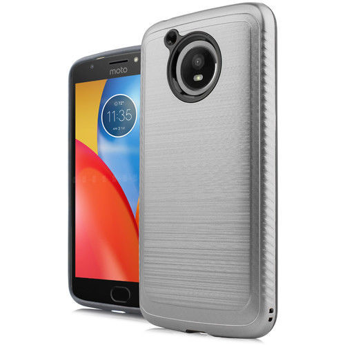 For Motorola Moto E4 PLUS Slim Case Deluxe Brushed Hybrid Hard Phone Cover