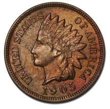 1905 One Cent Indian Head Penny Coin Lot# A 821
